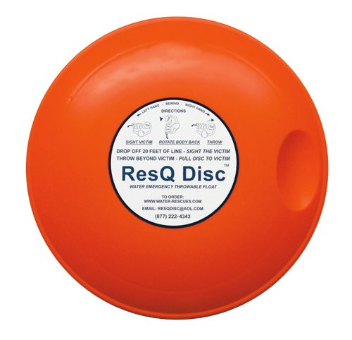 Throwable Rescue Disc for Water and Ice Rescues - SINGLE DISC with FREE Quick Release ResQ - Guard Coast Disc Us
