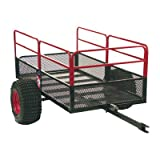 YUTRAX X2 utility trailer is lightweight and durable. The steel mesh-constructed bed withstands abuse from everyday loads. The bed also features a pivoting tongue and dumping feature for easy unloading. With a weight capacity of 1,250 pounds, the car...