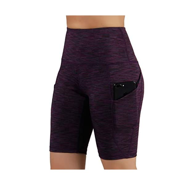 ODODOS High Waist Out Pocket Yoga Short Tummy Control Workout Running Athletic Non See-Through Yoga Shorts 17