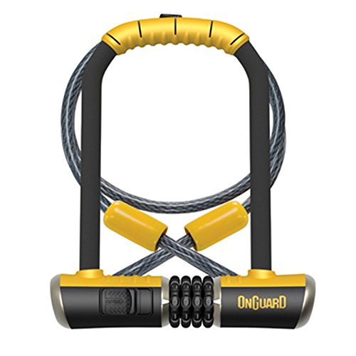 On-Guard Bulldog Combo STD-8010C Combo Shackle Lock - Black, 11.5 x 23.0 cm