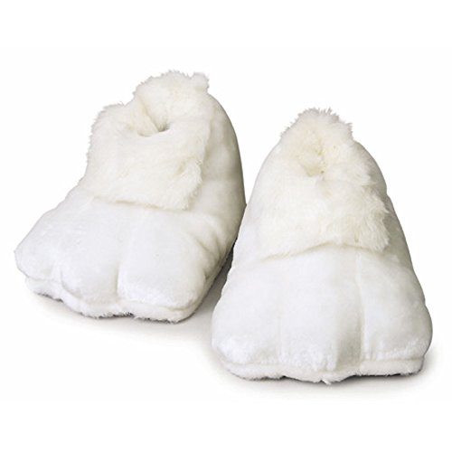 Rubie's Costume Co Plush Adult Bunny Shoes, White, One Size