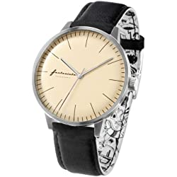 ZERONE Crossover Fantasista Utamaro Cream Black Analogue Watch