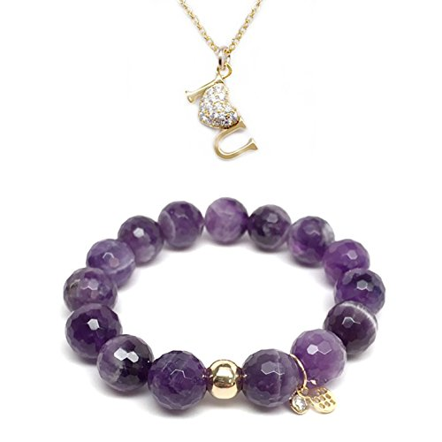 Set 12mm Purple Agate Lauren 7