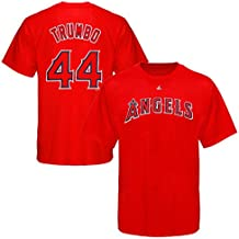 Majestic Athletic Los Angeles Angels MLB Mark Trumbo #44 Mens Player Shirt Red Size 4XL