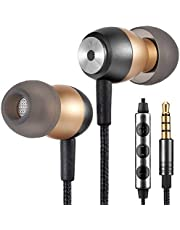Betron GLD60 Noise Isolating in Ear Earphones Headphones Bass Driven Sound for Samsung, iPhone, iPod, iPad with Volume Control and Microphone