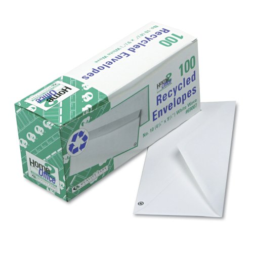 Recycled Envelopes (Quality Park 69007  Recycled White Wove Business Envelope Convenience Packs, #10, 24lb, 100/Box)