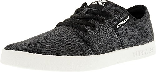 Senakers A white Unisex Supra Collo Washed Black Ii Stacks Basso 1fzqwnPEq