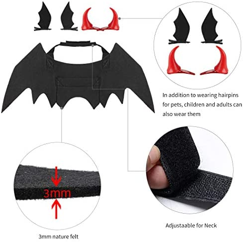 Legendog Cat Costume Halloween Bat Wings Pet Costumes Pet Apparel for Small Dogs and Cats (Bat Wings) 24