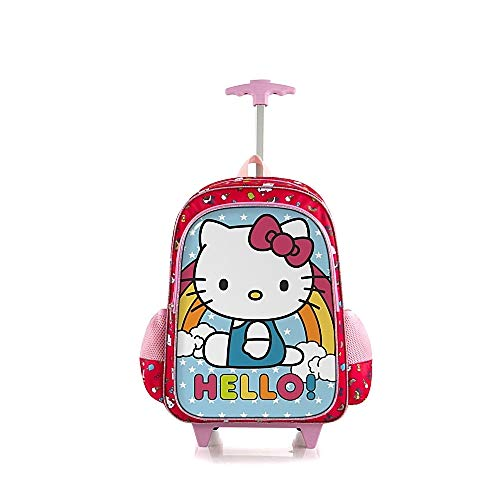 Hello Kitty 18 Inch Soft-Side School Bag Rolling Backpack for Kids ()