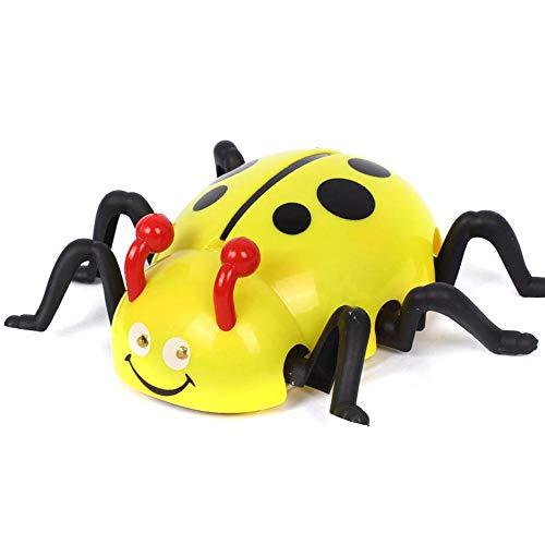 Umiwe Ladybug Toy, Remote Control Ladybug with 360° Rotation, Wall Crawling, Land Crawling, Glass Crawling, LED Light, Ladybug Robot for Kids