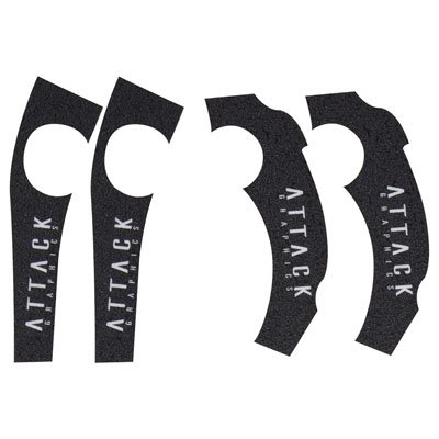 Attack Graphics Frame Grip Tape Black - Fits: Yamaha YZ125 2005-2019