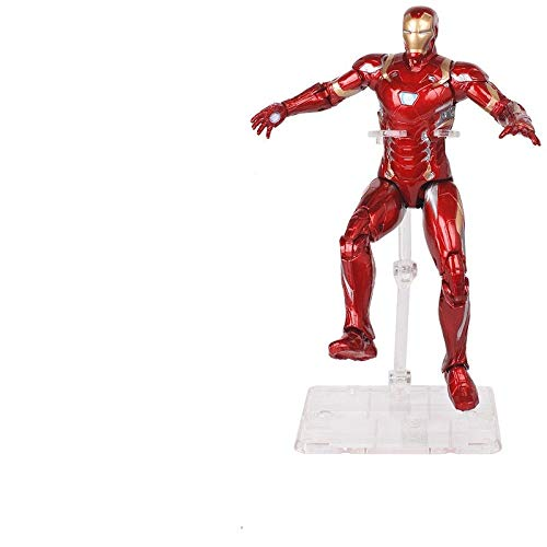 PAPIN Tony Stark Action Figure 7 inch Hot Toys Comic Legends Figures Christmas Halloween Mini Small Toy Birthday Collectable Gift Collectibles Big Large Collectible Gifts for Little Kids Baby Boys -
