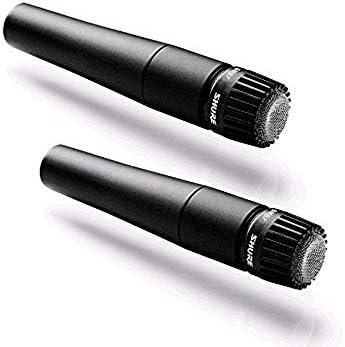 2 Shure sm57-lc Cardioide dinámico micrófono Combo Pack.: Amazon ...