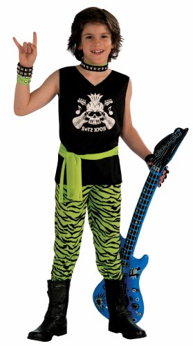Rock Star Dude Child Costume, Large