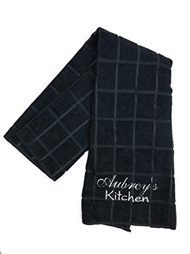(Personalized, Embroidered Kitchen Dish Towel)