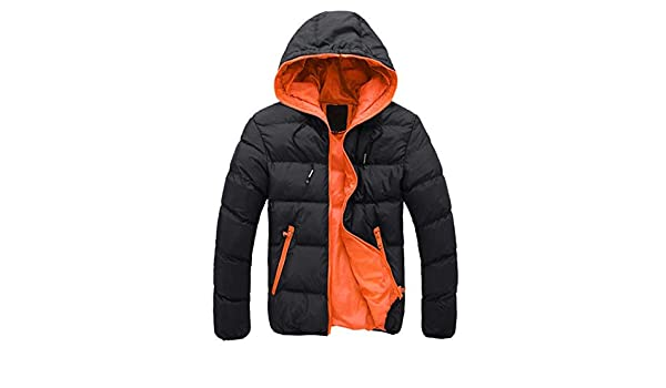 Amazon.com: XuBa Winter Spring Parka Jacket Men Fashion Thick Warm Hooded Coat Mens Casual Cotton Padded Zipper Jackets Outwear Chaquetas Hombre black ...