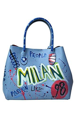 LuanaRomizi.com 8051P18IB - Bolso de asas para mujer azul claro