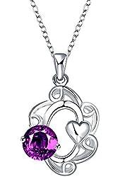 Savena Women Jewelry Flower Hollow Heart Elegant Necklace Long Pendant