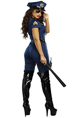 Amazon.com: GYH Policewoman Ladies Fancy Jumpsuit Cop ...