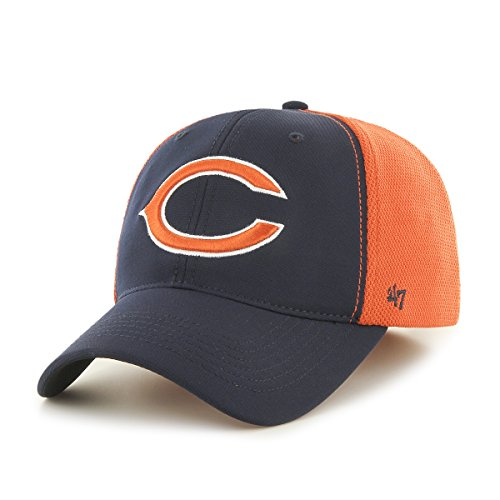 '47 NFL Chicago Bears Draft Day Closer Stretch Fit Hat, One Size, Navy