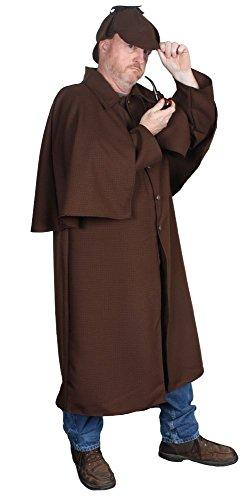 Alexanders Costumes Men's Sherlock Holmes, Brown One -
