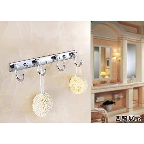 GDrems Stainless Steel Towel and Coat Rail,Wall Mounted Rack with 4 Hooks in Polished Chrome well-wreapped