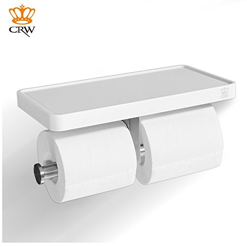 Crw Double Toilet Paper Holder White Bathroom Tissue