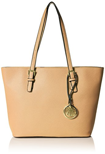 Inspired Designer Handbag Bag (MG Collection Inga Designer Shoulder Bag, Tan, One)