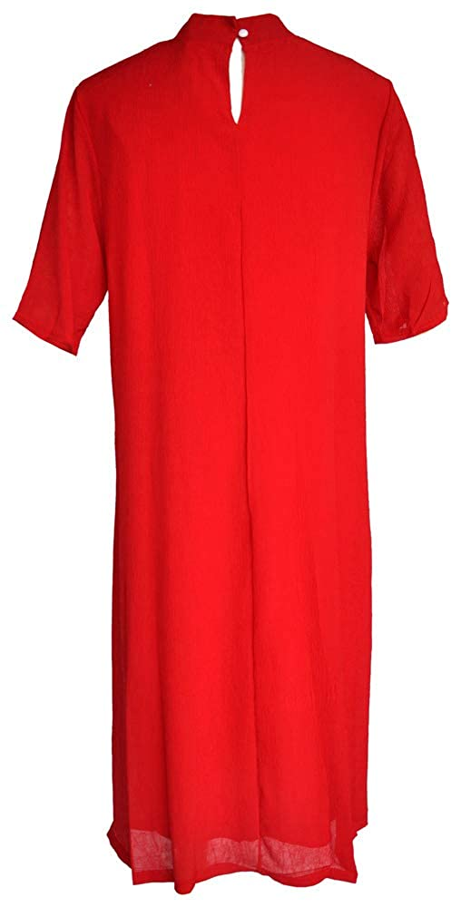 Amazing Grace Elephant Co Womens Vintage Ethic Chic Embroidered Casual Loose fit Qipao Dress