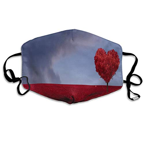 Dust Mask Falling Hearts Tree Fashion Anti-dust Reusable Cotton Comfy Breathable Safety Mouth Masks Half Face Mask for Women Man Running Cycling Outdoor