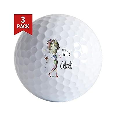 CafePress - Wine Oclock! - Golf Balls (3-Pack), Unique Printed Golf Balls