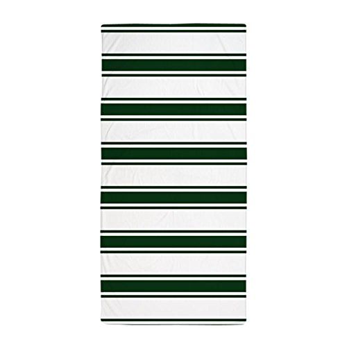 CafePress - Forest Green And White Stripes; Striped Beach Towe - Large Beach Towel, Soft 30''x60'' Towel with Unique Design by CafePress