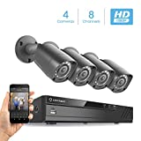 Amcrest Full-HD 1080P 8CH Video Security System w/Four 2MP Outdoor IP67 Bullet Cameras
