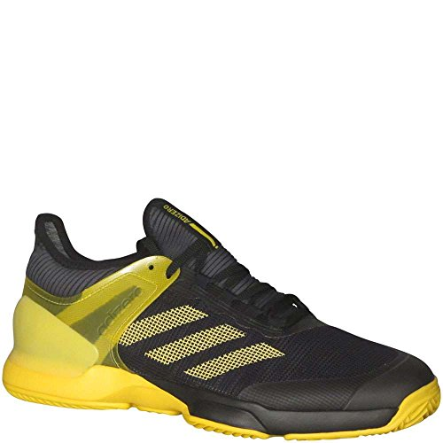 adidas Men's Adizero Ubersonic 2 Tennis Clay Black/Yellow 9 D(M) US