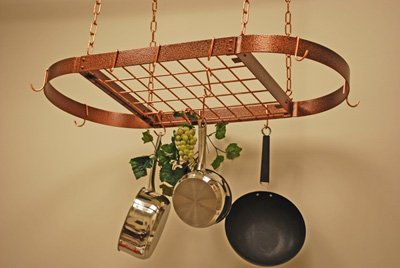 HAMMERED COPPER WITH COPPER OVAL MEDIUM WITH GRID