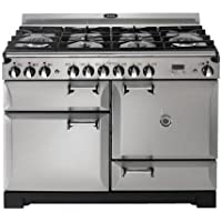 AGA ALEGS44-DF-SS Legacy Series 44 Freestanding Dual Fuel Range with 2.4 cu. ft. Convection Oven Three Oven Racks Roasting Tin and Storage Drawer: Stainless