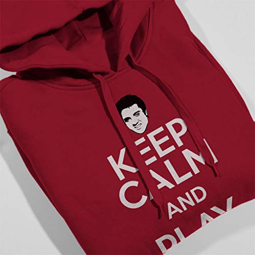 Keep Keep Play Play Play Elvis Sweatshirt Presley Cherry Hooded Coto7 And Women's Red Calm dwtZxfqOf