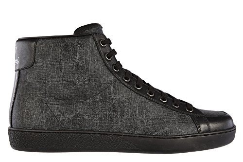 Gucci men's shoes high top leather trainers sneakers supreme miro black US size 9.5 325371 KHN80 1096 (Shoes Leather Mens Gucci)