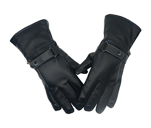 PITI Battery Heated Gloves for Men Women Rechargeable Li-ion Thermal Warming Electric Gloves Waterproof for Driving Cycling Hunting Winter Hand Warmer