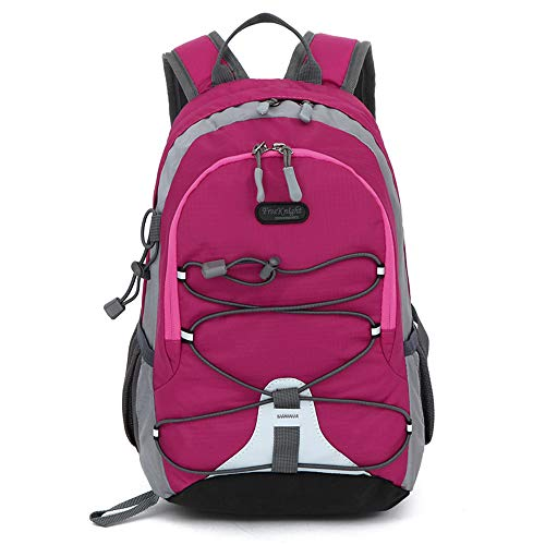 Small size Waterproof Sport Backpack, 10 inches Lightweight Ultra Light backpack, for Girls Boys Kids Traveling (Rose Red)