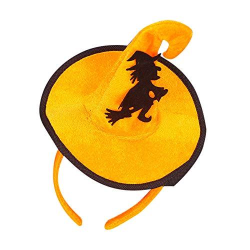 Halloween Unique Design Spider Pumpkin Bats Ghosts Cap Hoop Short Plush Hairband ()