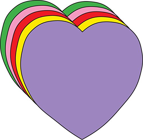 Heart Large Assorted Color Creative Cut-Outs (Heart Cut Outs)