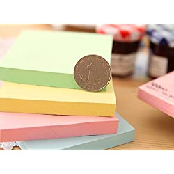 XENO-100 Remove Sticky Memo Notes Pastel Yellow Neon Bright Post It Cubes 76mm x 76mm