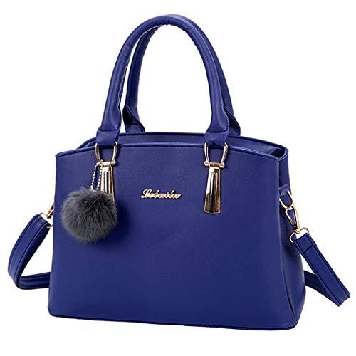 Sólido Móvil Pu Casual Mujer Teléfono De Cuero Bolsa Hombro Sylar Color Azul Estilo Bandolera Bolso Mano Pequeño Cremallera nw0av