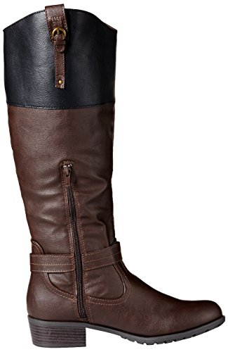 Boot Black Black Rampage Women's Cognac Riding Brown Ivelia q0RwABOt