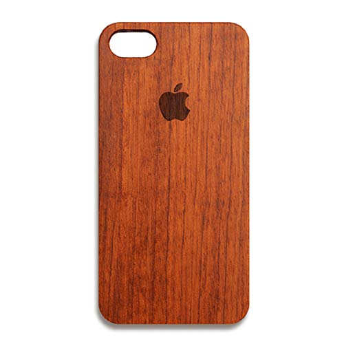 (Nurbo iPhone 8 Plus Case, Creative Unique Design Natural Carved Wood Wooden Hard Case for iPhone 8 Plus 5.5 Inch)