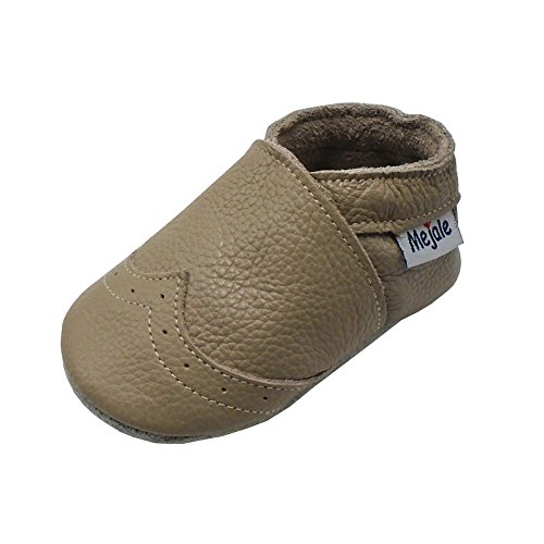 Mejale Weiche Sohle Leder Babyschuhe Lauflernschuhe Krabbelschuhe Kleinkind Kinderschuhe Hausschuhe Bräunen