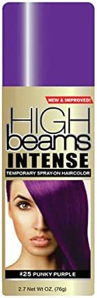 High Ridge High beams intense temporary spray on hair color, punky purple #25, 2.7 ounce, 2.7 Fl Oz