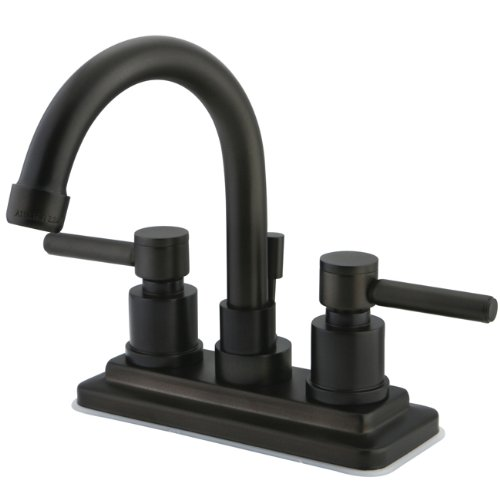 Kingston Brass KS8665DL Concord Twin Lever Handle Lavatory Faucet, 4-7/8