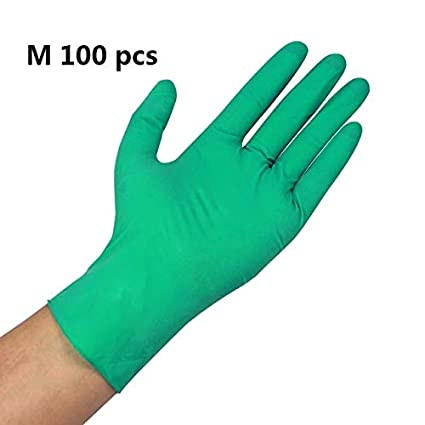Homely Abeso Nbr Latex Durable Lengthen Disposable Gloves 100 Pcs for Food Home Clean Acid Alkali Resistance Antiskid Golves A7